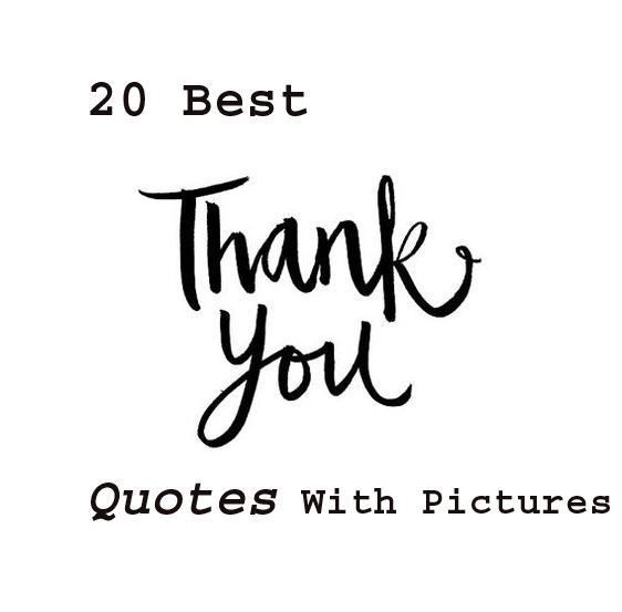 20 best thank you quotes with pictures