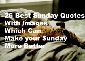Best Sunday Quotes With Images Which Can Make It Much Better