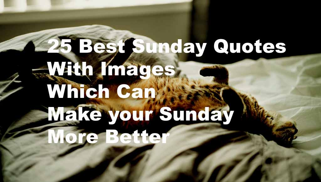 Sunday Quotes Images Fascinating Best Sunday Quotes With Images Which Can Make It More Better
